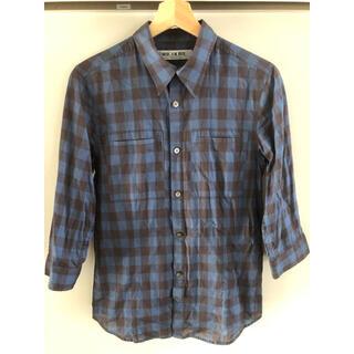 ミスターオリーブ(Mr.OLIVE)の薄手シャツ!MR.OLIVE七分袖ブロックチェックシャツ グラフペーパー(シャツ)