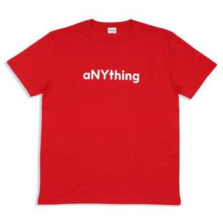エニシング(aNYthing)のaNYthing LABEL LOGO TEE (RED)☆(Tシャツ/カットソー(半袖/袖なし))