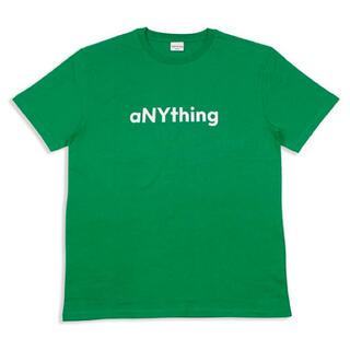 エニシング(aNYthing)のaNYthing LABEL LOGO TEE (GREEN)☆(Tシャツ/カットソー(半袖/袖なし))