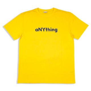 エニシング(aNYthing)のaNYthing LABEL LOGO TEE (YELLOW)☆(Tシャツ/カットソー(半袖/袖なし))