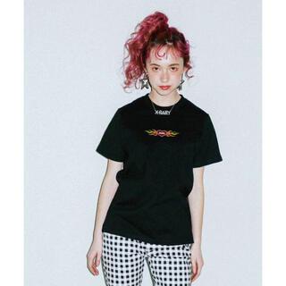エックスガール(X-girl)のX-girl  Tシャツ 半袖 黒 ロゴ ハート(Tシャツ(半袖/袖なし))