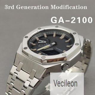 カシオ(CASIO)のG-SHOCK GA-2100 カスタム用 第三世代 3rd カシオーク(金属ベルト)