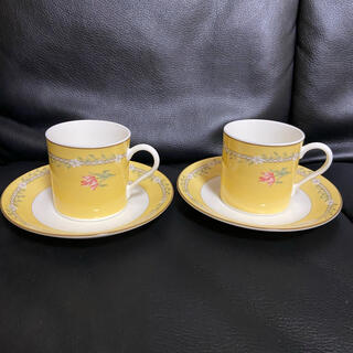 Tiffany & Co. - ティファニー ピンクチューリップ ペア デミタスカップ ソーサー