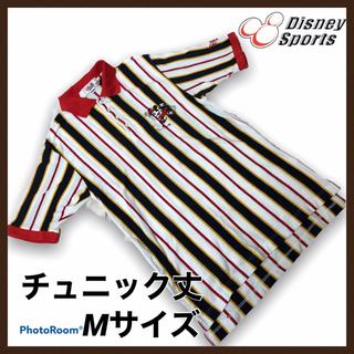 ディズニー(Disney)のディズニー スポーツ ポロシャツ Mサイズ ゴルフウェア チュニック ミッキー(ポロシャツ)