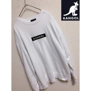 カンゴール(KANGOL)の【KANGOL】カンゴール スウェット ホワイト ロゴ刺繍 M(スウェット)