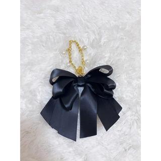 メゾンドフルール(Maison de FLEUR)のmaison de fleur ブラック リボン チャーム(バッグチャーム)