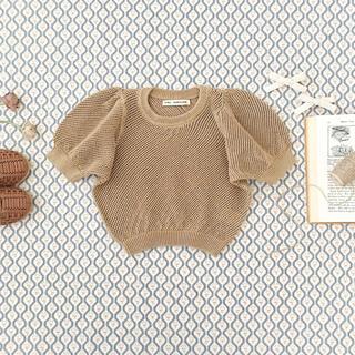 キャラメルベビー&チャイルド(Caramel baby&child )の新品soor ploom   mini knit top chai 12y(ニット)
