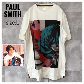 Paul Smith - 【三浦春馬さん着用】【極美品】ポールスミス バラ プリントTシャツ Lサイズ