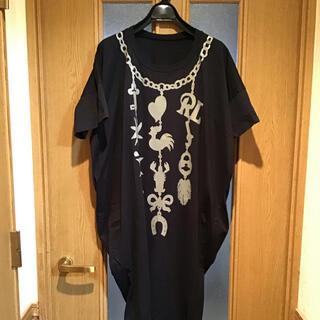ヴィヴィアンウエストウッド(Vivienne Westwood)の新品未使用 ビビアンウエストウッド チュニック ワンピース ブラック(ひざ丈ワンピース)