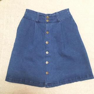 フィント(F i.n.t)のフロントボタン 台形スカート(ひざ丈スカート)