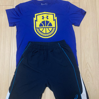 UNDER ARMOUR - アンダーアーマー 半袖Tシャツ、アシックスハーフパンツ