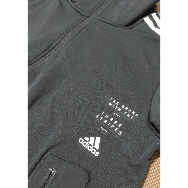 adidas(アディダス)の☆adidas アディダス ジャージブルゾン 黒 サイズL メンズのジャケット/アウター(ブルゾン)の商品写真
