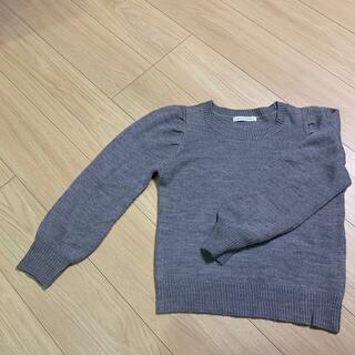 LOWRYS FARM - ローリーズファーム セーター ニット グレー  肩ボリュームあり