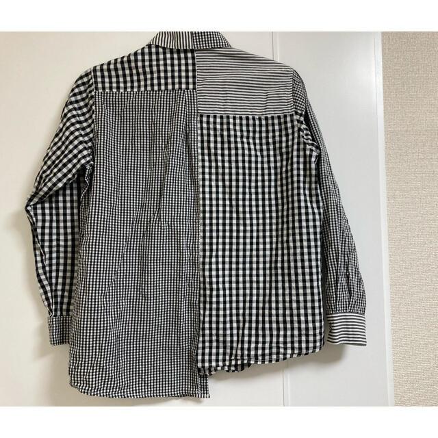 antiqua(アンティカ)のシャツ 人気 チェックアシンメトリーシャツ antiqua 完売品 レディースのトップス(シャツ/ブラウス(長袖/七分))の商品写真