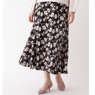 インデックス(INDEX)の花柄スカート(ロングスカート)