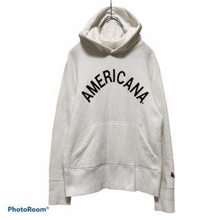 アメリカーナ(AMERICANA)のAMERICANA アメリカーナ アーチロゴパーカー ホワイト(パーカー)