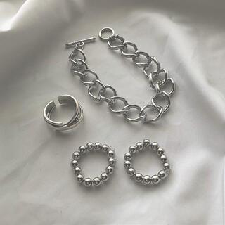 Kastane - シルバー ボールチェーン リング 指輪