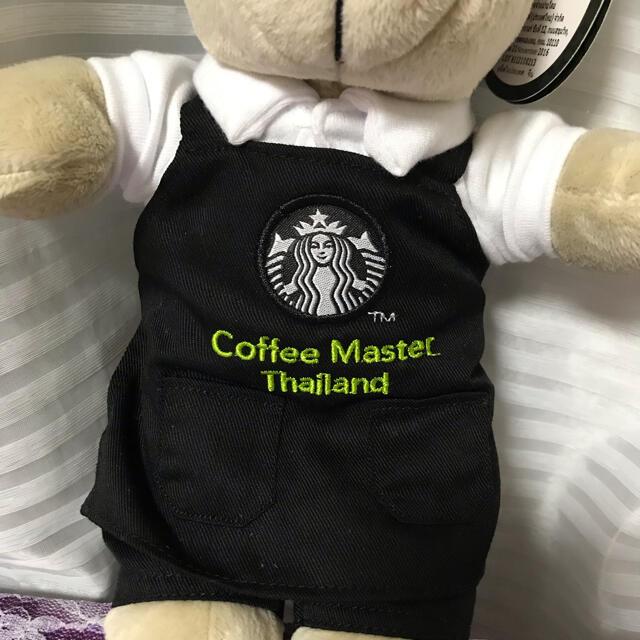 Starbucks Coffee(スターバックスコーヒー)の新品!スタバ ベアリスタ タイ限定 黒エプロン コーヒーマスター エンタメ/ホビーのおもちゃ/ぬいぐるみ(ぬいぐるみ)の商品写真