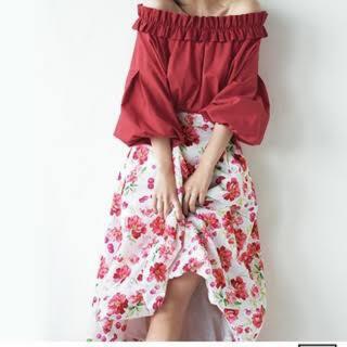 アンドクチュール(And Couture)のアンドクチュール チェリーバルーンスカート(ひざ丈スカート)