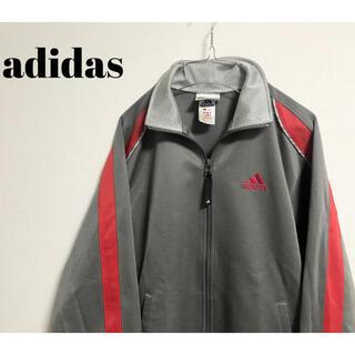 アディダス(adidas)の古着 adidas アディダス ライン ジャージ ブルゾン ユニセックス グレー(ブルゾン)