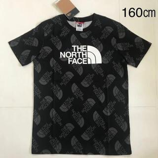 THE NORTH FACE - 【海外限定】 ノースフェイス ロゴ総柄 Tシャツ160