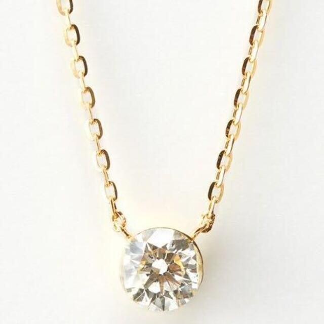 agete(アガット)のagete K18 ダイヤモンド ネックレス 0.2ct ¥82,500 レディースのアクセサリー(ネックレス)の商品写真