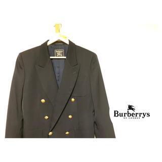 BURBERRY - ☆極美品 バーバリーズ紺ブレ ジャケット ダブル 金ボタン 90s  カシミア混