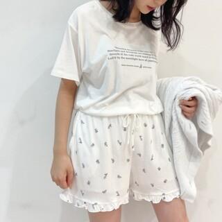 gelato pique - ジェラートピケ♡リトルローズTシャツ&ショートパンツ ブルー