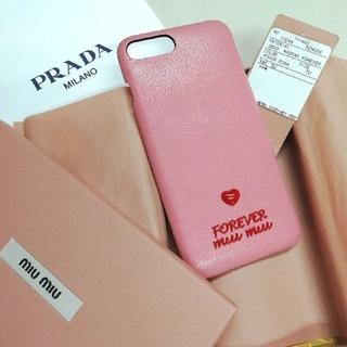 miumiu - 【Miu Miu】ミュウミュウ iPhone7Plus/8Plus ケース 新品