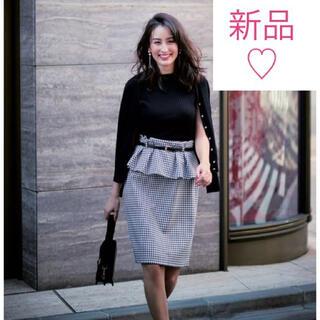 ジャスグリッティー(JUSGLITTY)の新品♡ ジャスグリッティー 2wayスカート ベルト付ぺプラムタイトスカート(ひざ丈スカート)