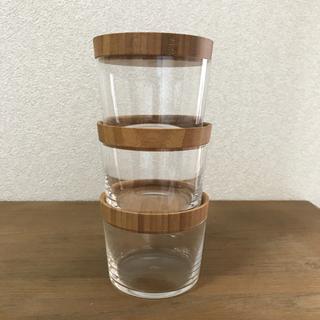 スガハラ(Sghr)のスガハラ 竹の蓋付きグラス 3個セット 保存容器(グラス/カップ)