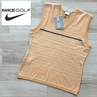 NIKE - 未使用 NIKE ゴルフウェア ノースリーブ Vネックニット オレンジ Mサイズ