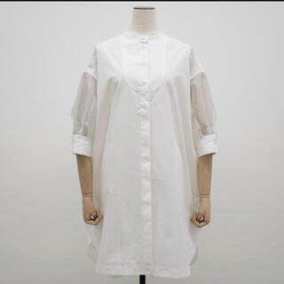 DEUXIEME CLASSE - YONFA ヨンファ シースルーシャツチュニック ホワイト