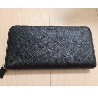 プラダ(PRADA)のPRADA 長財布 サフィアーノ 黒(長財布)