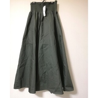 GU - GU シャーリング フレアロングスカート 未使用