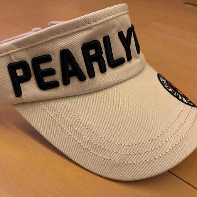 PEARLY GATES(パーリーゲイツ)の☆新品☆ パーリーゲイツ ゴルフ サンバイザー 白 男女兼用 スポーツ/アウトドアのゴルフ(その他)の商品写真