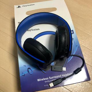 プレイステーション4(PlayStation4)のPS4 純正ヘッドセット ワイヤレスサラウンドヘッドセット(ヘッドフォン/イヤフォン)