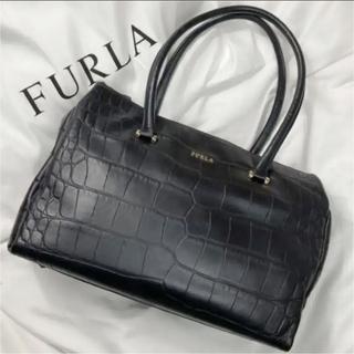 Furla - FURLA フルラ トートバッグ 型押し レザー