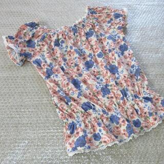 ハニーズ(HONEYS)の春物 カットソー 花柄 フラワー レース ピンクホワイトブルー 可愛い(Tシャツ(半袖/袖なし))