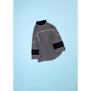 アンユーズド(UNUSED)のelephant TRIVAL fabrics ボーダーホッケーカットソー新品(Tシャツ/カットソー(七分/長袖))