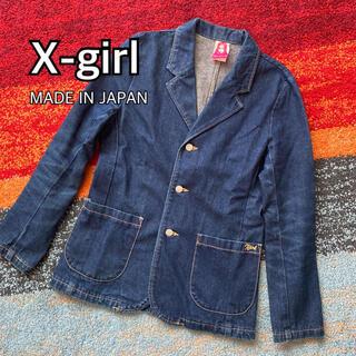 エックスガール(X-girl)のX-girl エックスガール デニムジャケット Gジャン 日本製(Gジャン/デニムジャケット)