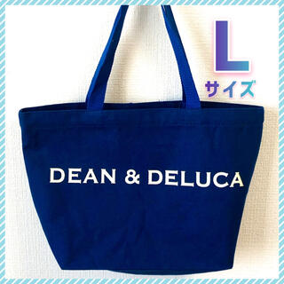 DEAN & DELUCA - DEAN&DELUCA トートバッグ ネイビー Lサイズ キャンバストート 新品