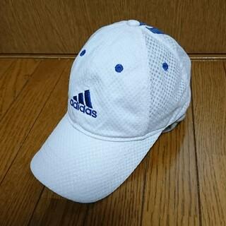 アディダス(adidas)のadidas ベースボール キャップ 白  キッズ 54 ~ 57(帽子)