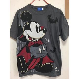 ディズニー(Disney)のディズニー ミッキー ハロウィンTシャツ 半袖 グレー ユニセックス(Tシャツ/カットソー(半袖/袖なし))