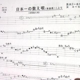 民謡♪五線譜~紅葉集(1)I10★上達/和楽/うたい方/練習/教本/楽譜/上級(三味線)