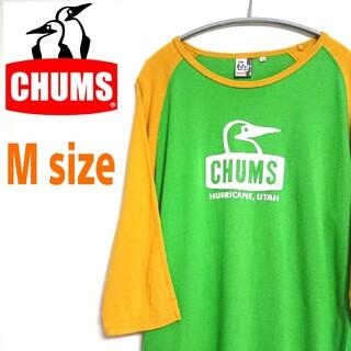 CHUMS - CHUMS チャムス ビッグロゴ 七分袖 Tシャツ ラグランスリーブ  古着