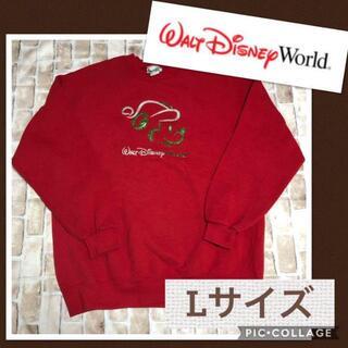 ディズニー(Disney)のディズニー ミッキー スウェット トレーナー Lサイズ パーカー 長袖シャツ(スウェット)