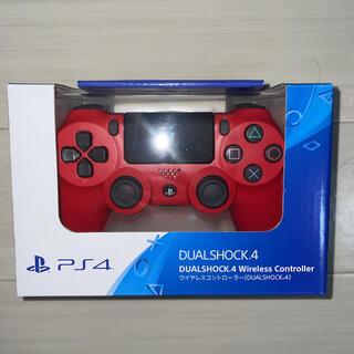 PlayStation4 - 【新品】PS4 ワイヤレスコントローラー DUALSHOCK4 マグマレッド
