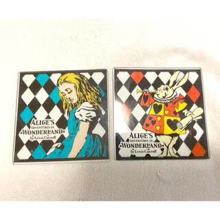 ディズニー(Disney)の5月下旬まで☆ディズニー アリス コースター 2枚セット(テーブル用品)