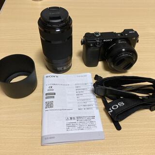 SONY - SONY α6000 ILCE-6000Y ダブルズームレンズキット ブラック